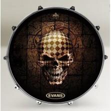 Evans 22 Inked Alchemy Checked Skull