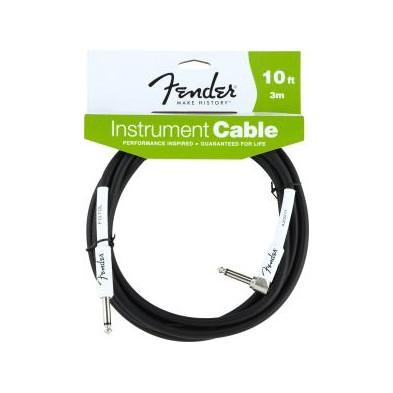 Fender Performance Series Instrument 10Ft Black (3M.) Recto-Acodado