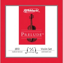 D'Addario J810 Prelude 4/4 Medium Juego