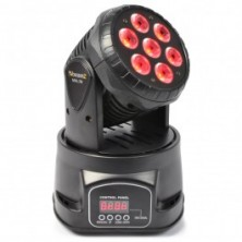 Beamz Mhl-74 Mini Cabeza Movil Wash 7X 10W Dmx 12 Canales Quad Led
