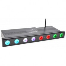 Beamz Pro Wi-Bar 8X 3W Tri-Color Leds Con Bateria 2.4Ghz Dmx