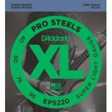 D'Addario Eps220 Prosteels Super Light 40-95