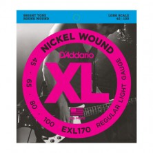 D'Addario Exl170 Nickel Wound Bass Light Long Scale 45-100