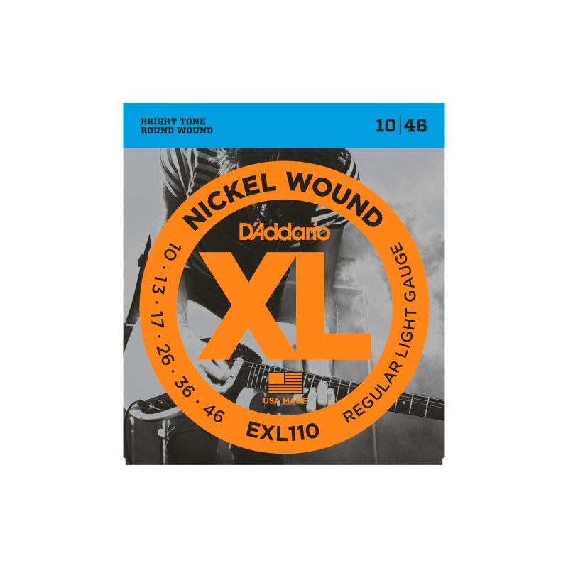 D'Addario Exl110-Xl Regular Light 10-46