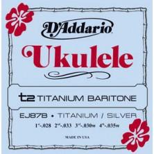 D'Addario Ej87B Titanium Ukulele Baritone