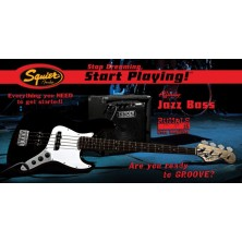 Squier Pack Jazz Bass Rumble 15 Negro