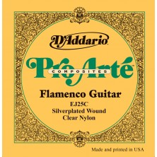 D'Addario Ej25C Composites Flamenco Clear Nylon