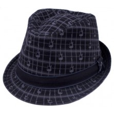Fender Axe Plaid Fedora Black