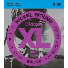 D'Addario Exl120-Xl Super Light 09-42