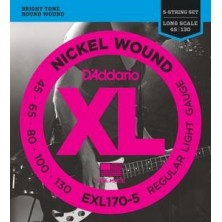 D'Addario Exl170-5 5-String Bass Regular Long Scale 45-130
