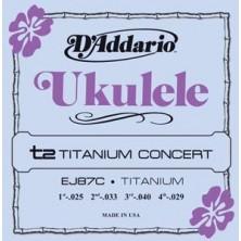 D'Addario Ej87C Titanium Ukelele Concert