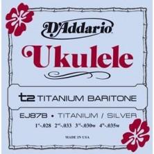 D'Addario Ej87B Titanium Ukelele Baritono