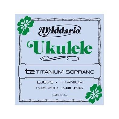 D'Addario Ej87S Titanium Ukelele Soprano