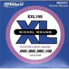 D'Addario Exl190 Nickel Wound Long Scale 40-100