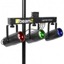 Beamz 3-Some 3X57Led Rgbw 3 Focos Negros