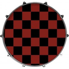 Evans 22 Inked Graphics Red Checker