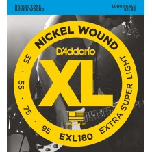 D'Addario Exl180 Extra Super Light 35-95