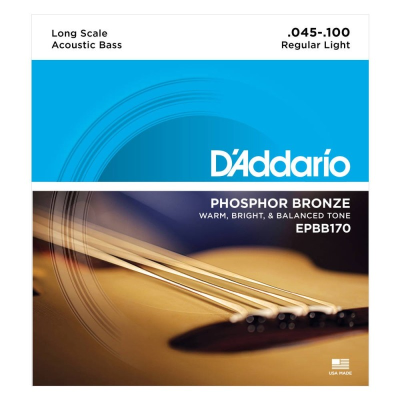 D'Addario Epbb170 Phosphor Bronze Acoustic Bass 45-100