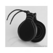 Casta?uelas Del Sur Fibra Negra Veteada Blanca n?5