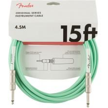 Fender Original Series Instrument Cable 4,5m Surf Green