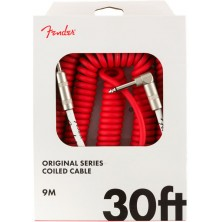 Fender Original Series Coil Cable Straight-Angle 9m Fiesta Red