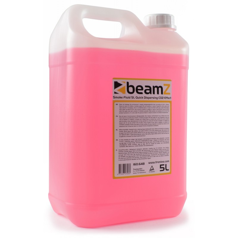 Beamz Smokefluid Quick Dispersal Red Ef CO2 5 Litros