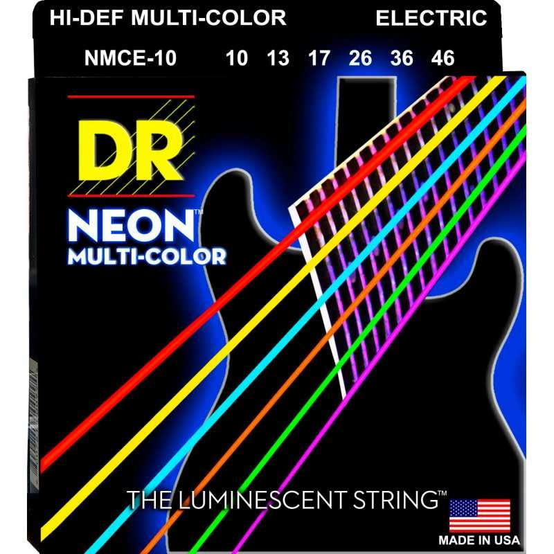 DR Strings NMCE-10 Neon Multi-Color