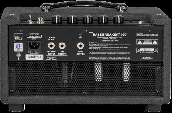 Parte de atrás del amplificador Fender Bassbreaker 007