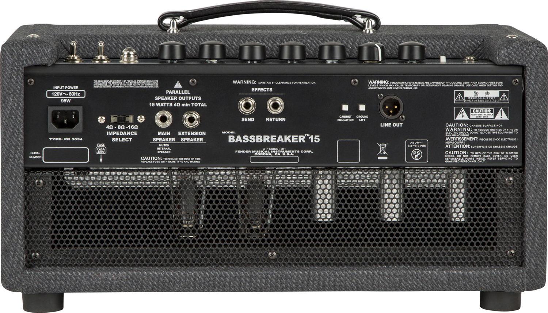Parte de atrás del amplificador Fender Bassbreaker 15