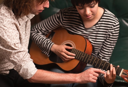 Aprendizaje de guitarra clásica con profesor