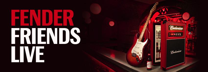 Sorteo de Fender Friends Live: Fender Stratocaster + Nevera Budweiser