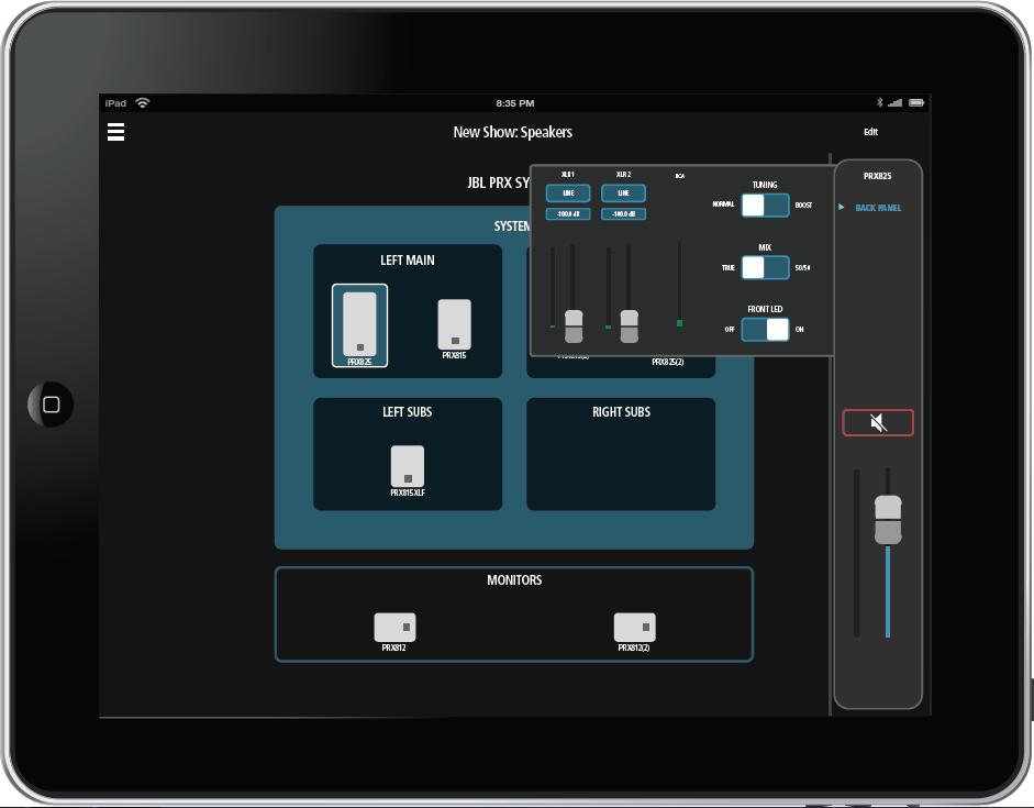 Control Wi-Fi para JBL PRX800W