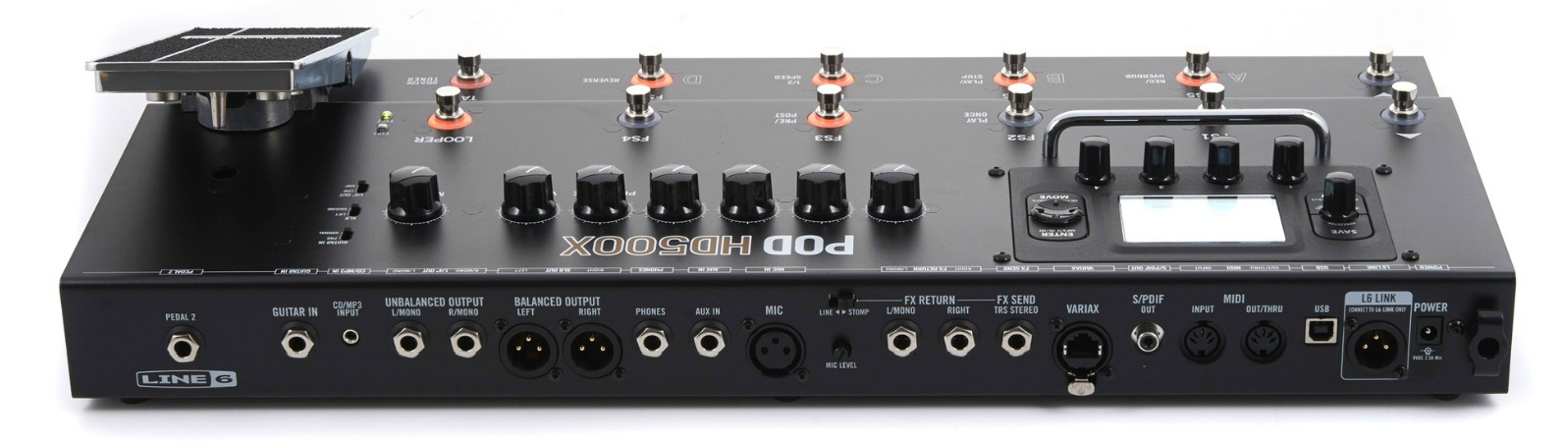Line 6 POD HD500X (reverso)