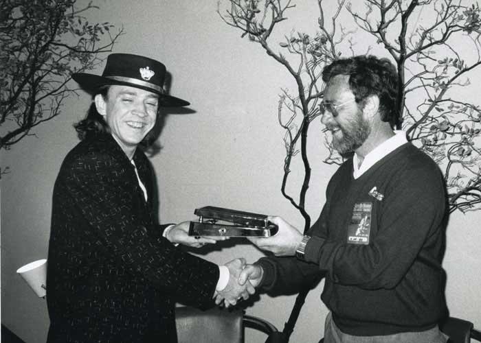 Jim Dunlop con Stevie Ray Vaughan